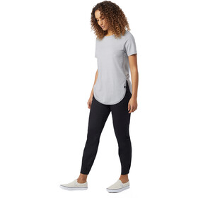 tentree Cascade T-Shirt Women Gargoyle Grey Micro Stripe